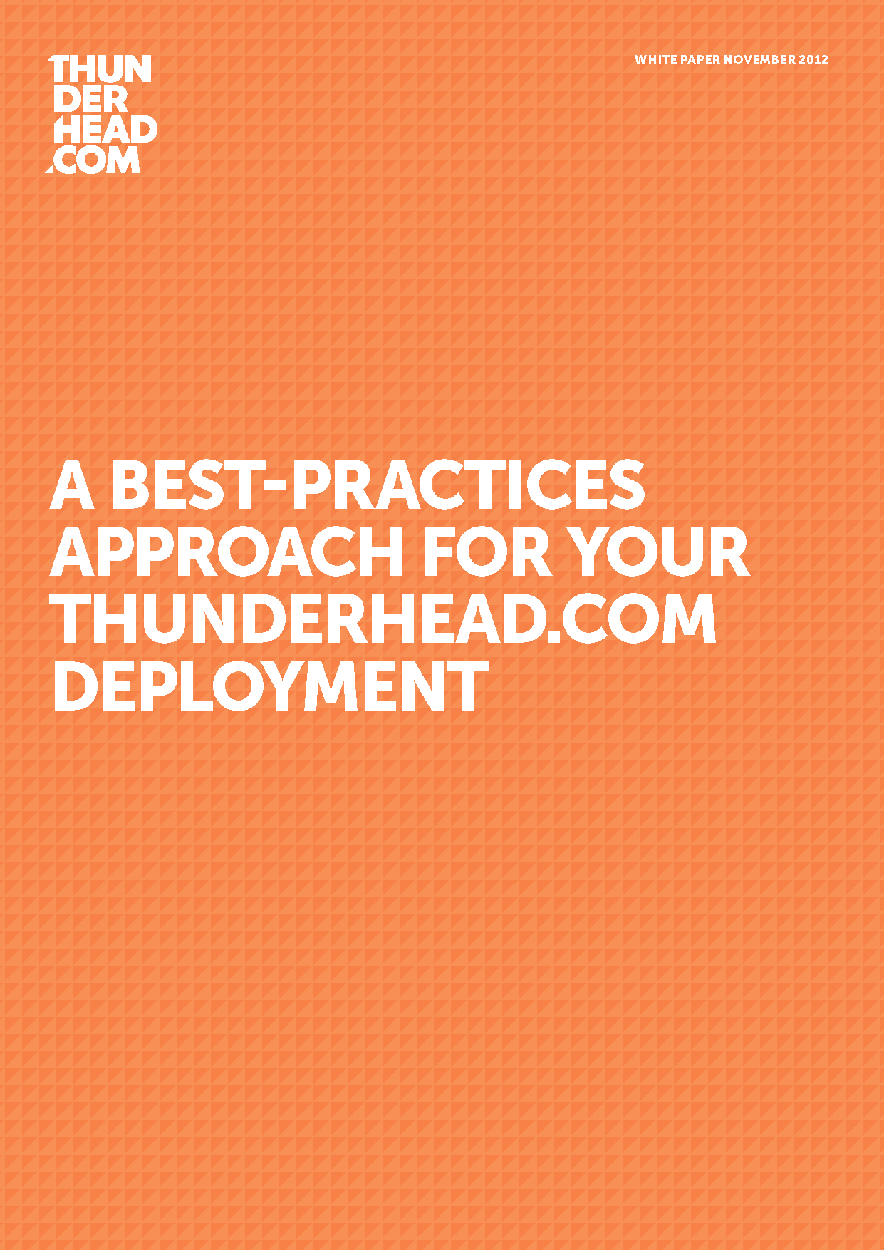 Thunderhead.com Centers of Excellence White Paper Cover