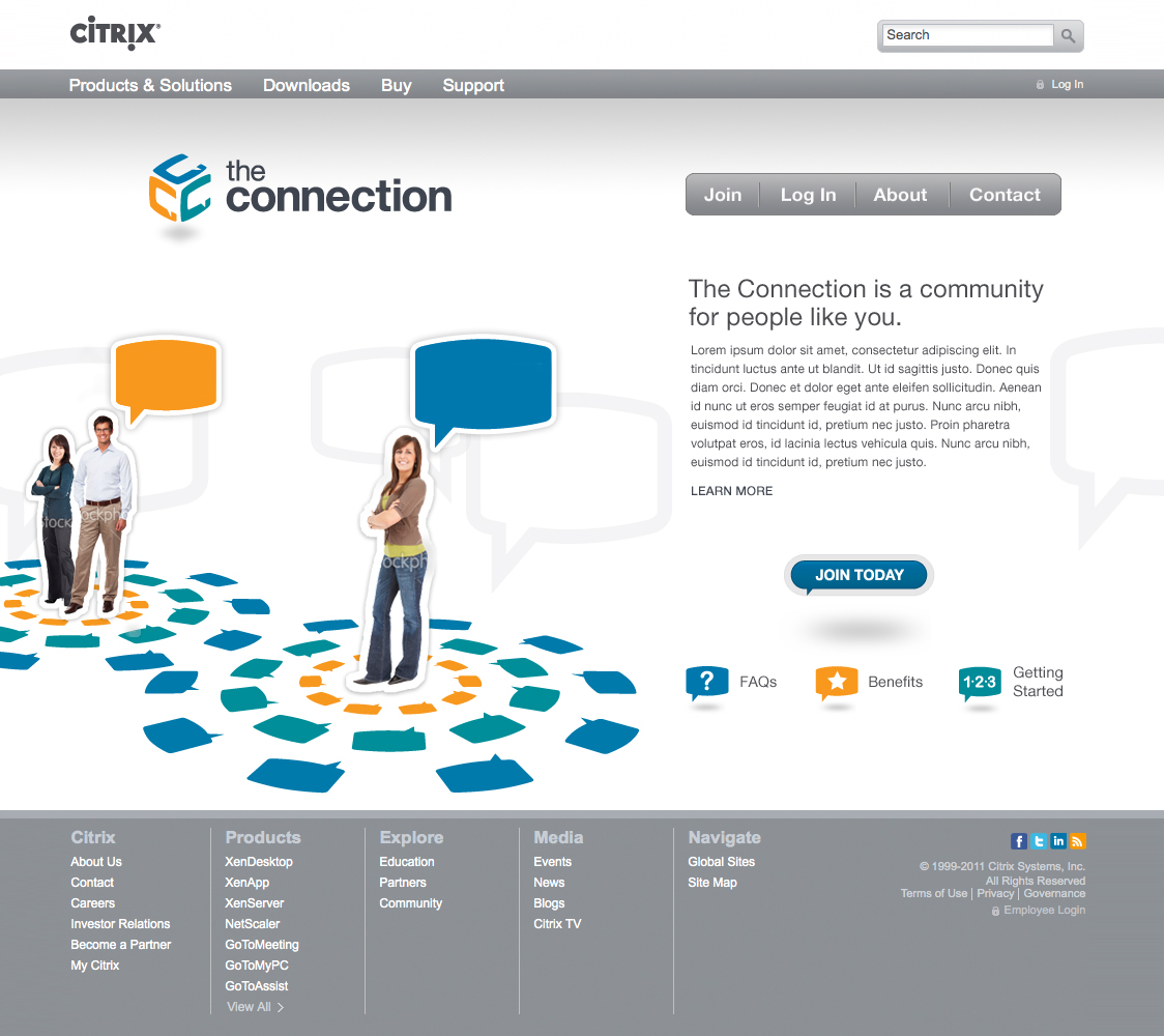 Citrix The Connection website