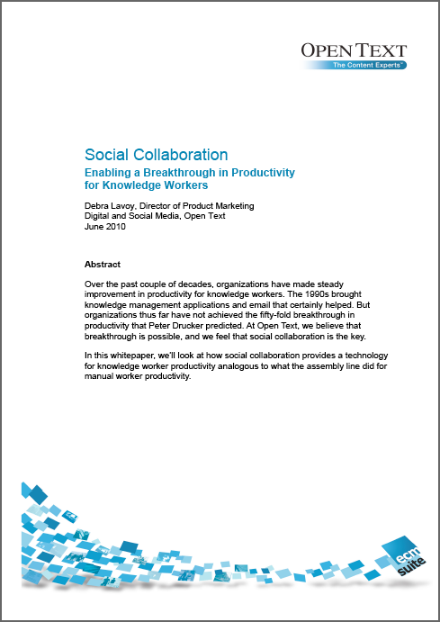 OpenText Social Collaboration whitepaper