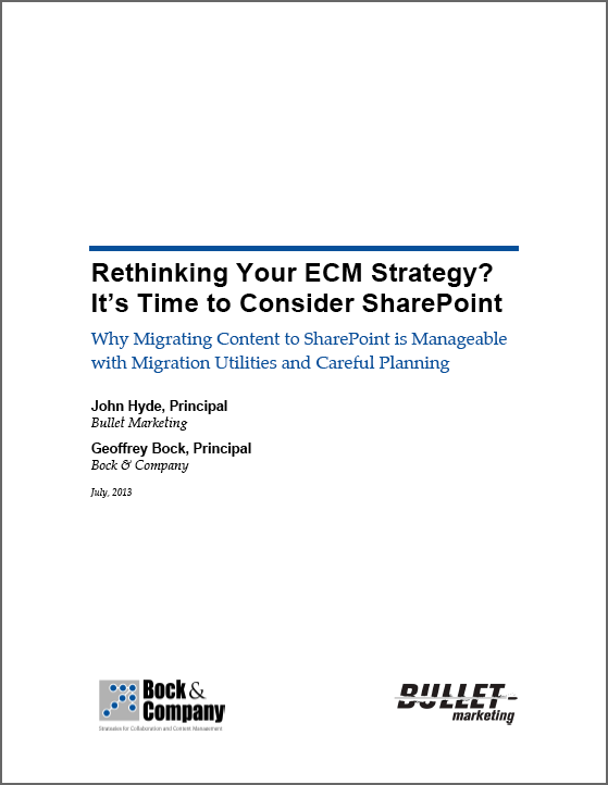 See Unity Whitepaper: SharePoint Migration Considerations