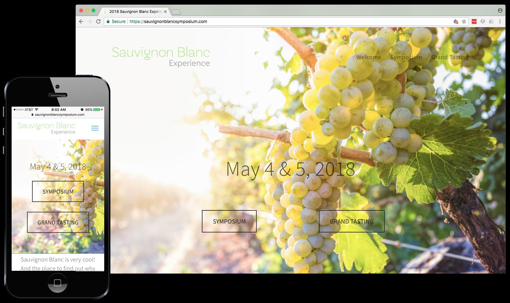 Sauvignon Blanc Experience website